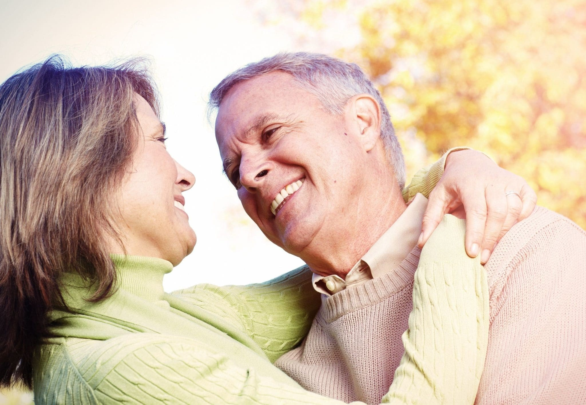 happy couple rejoicing over having no TriMix Side Effects