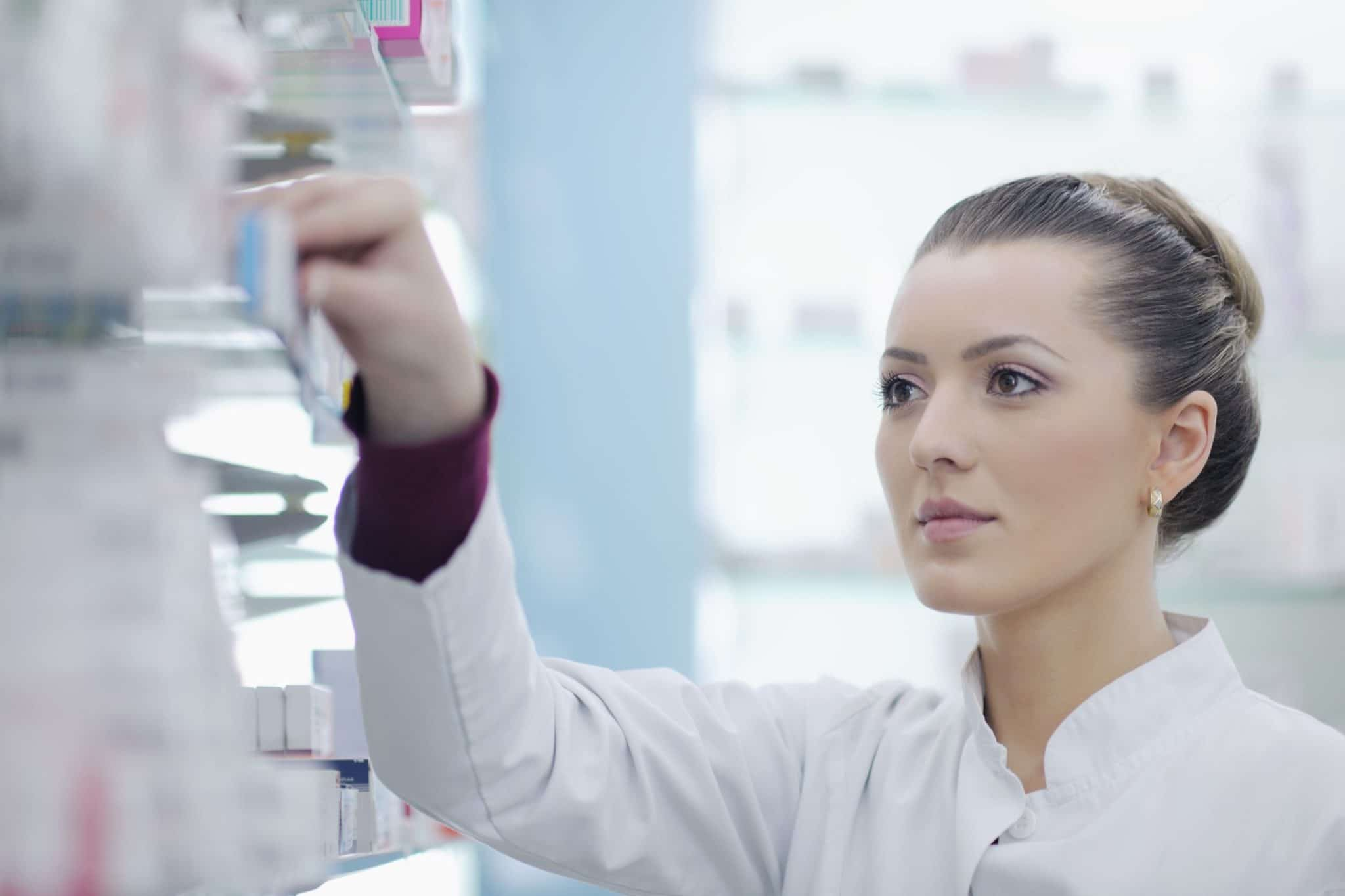 Pharmacist Creating Medication at Olympia Compounding Pharmacy