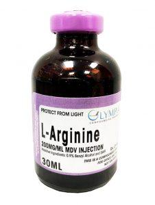 30 ML bottle of L Arginine solution for injection