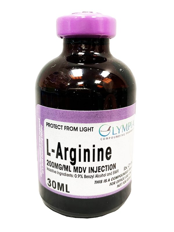 30 ML bottle of L Arginine solution for injection