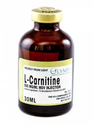30 ML bottle of L-Carnitine 500MG/ML MDV injection
