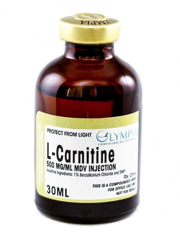 30 ML bottle of L-Carnitine 500MG/ML MDV injection