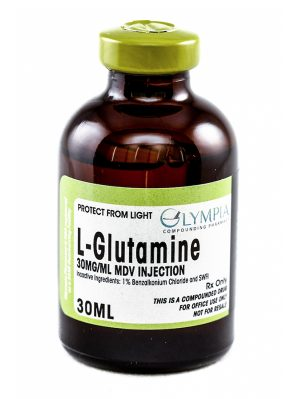 Bottle of L-Glutamine 30MG/ML MDV injection