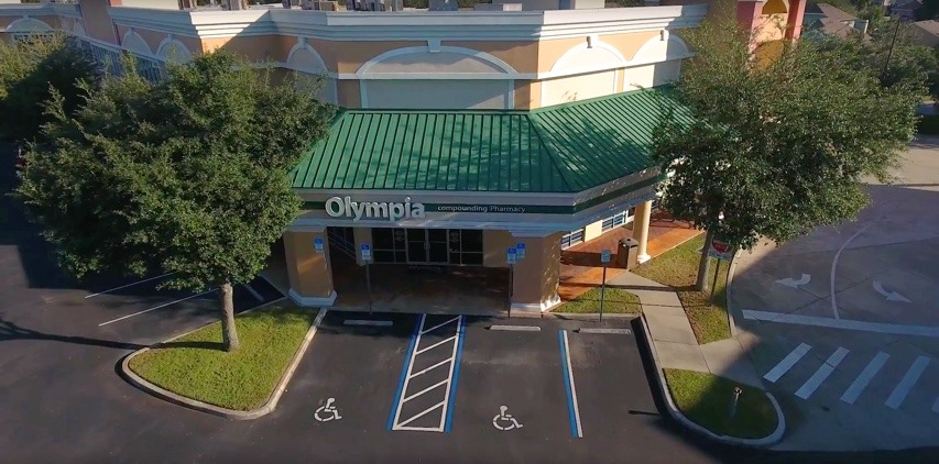 Bird's-eye view of Olympia Pharmacy office in Orlando