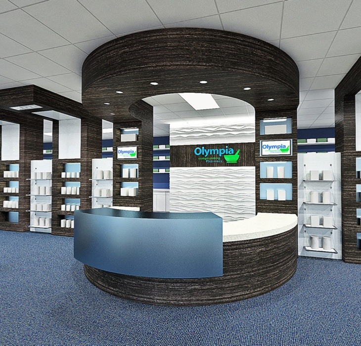 Olympia Pharmacy front desk